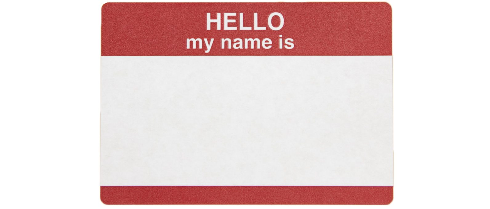 Attending Mutual Support Groups: Name Tag